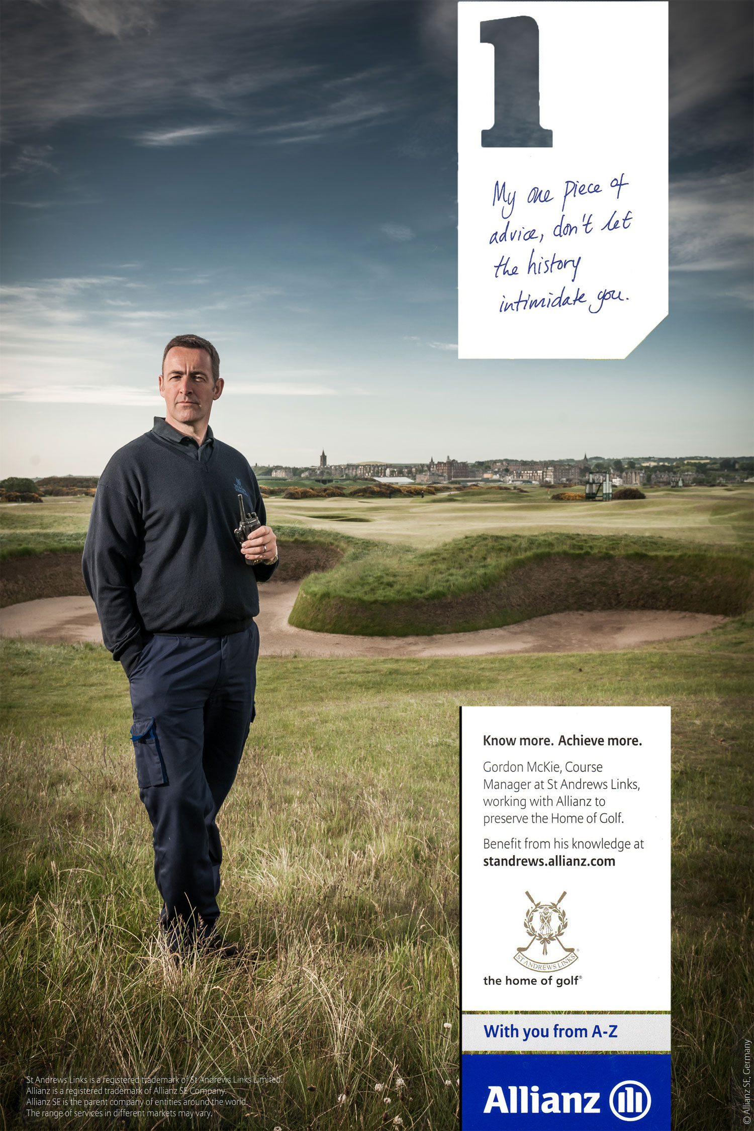 Head Greenkeeper of The Old Course Golf St Andrews