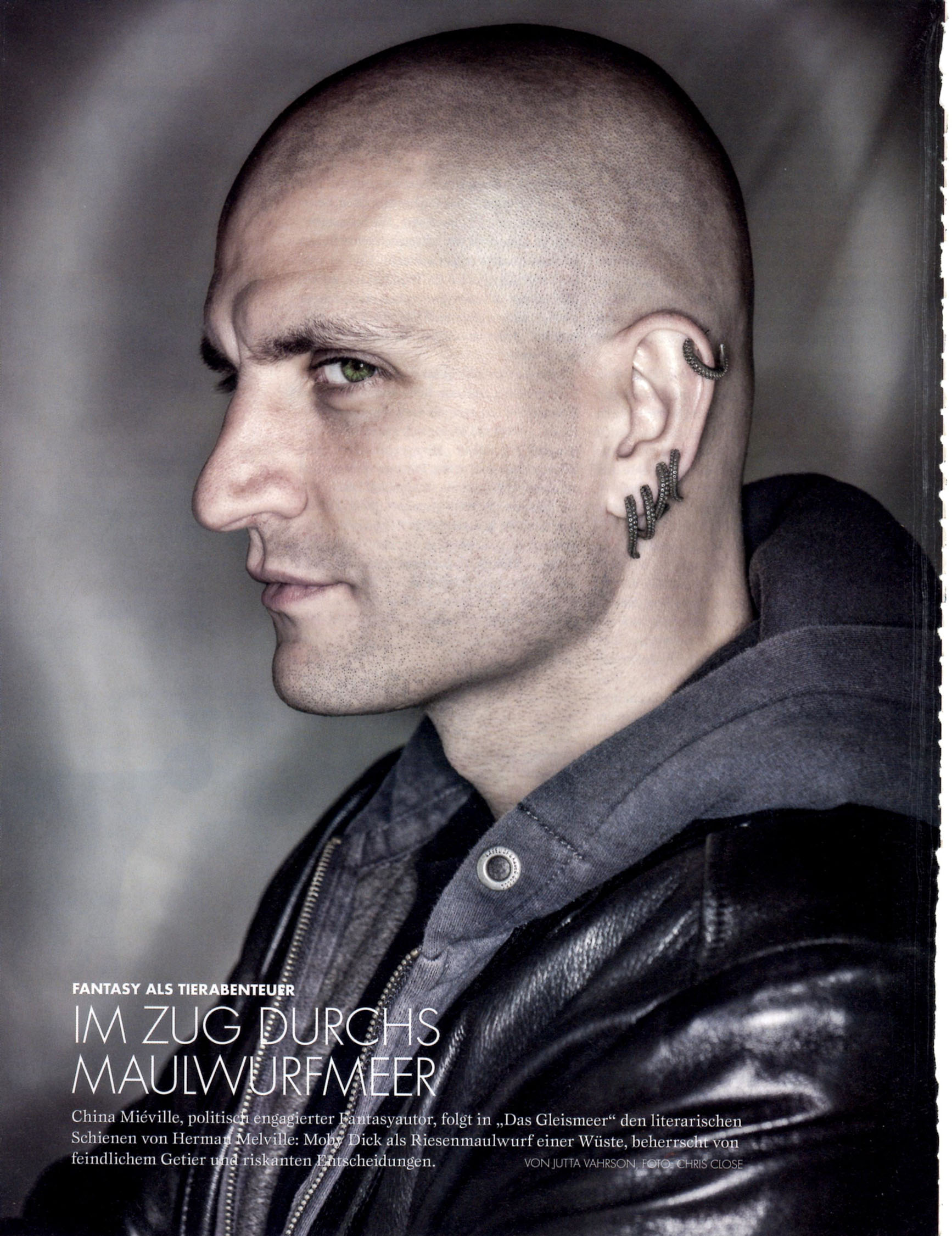 Writer China Miéville from Edinburgh Book Festval photography exhibition