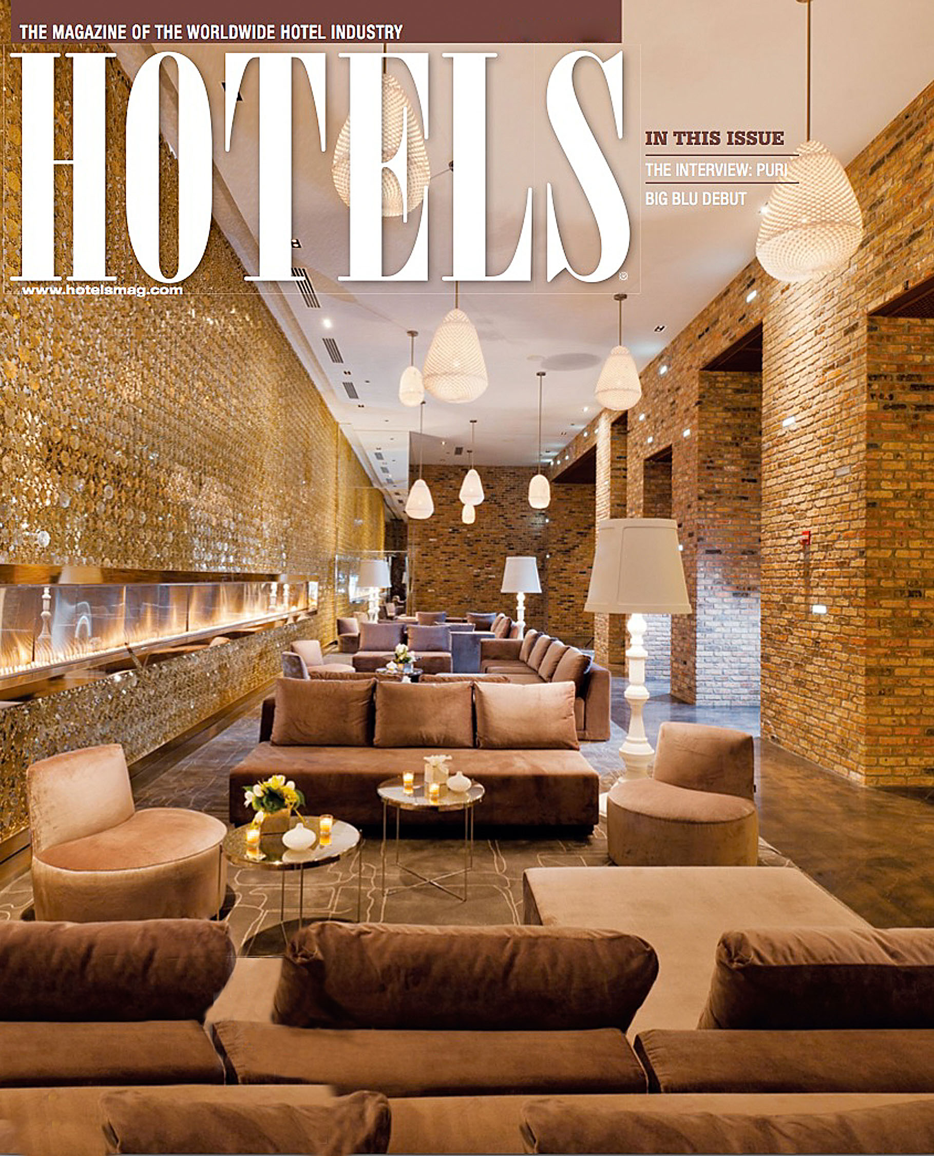 Radisson Blue hotel chicago interior magazine cover