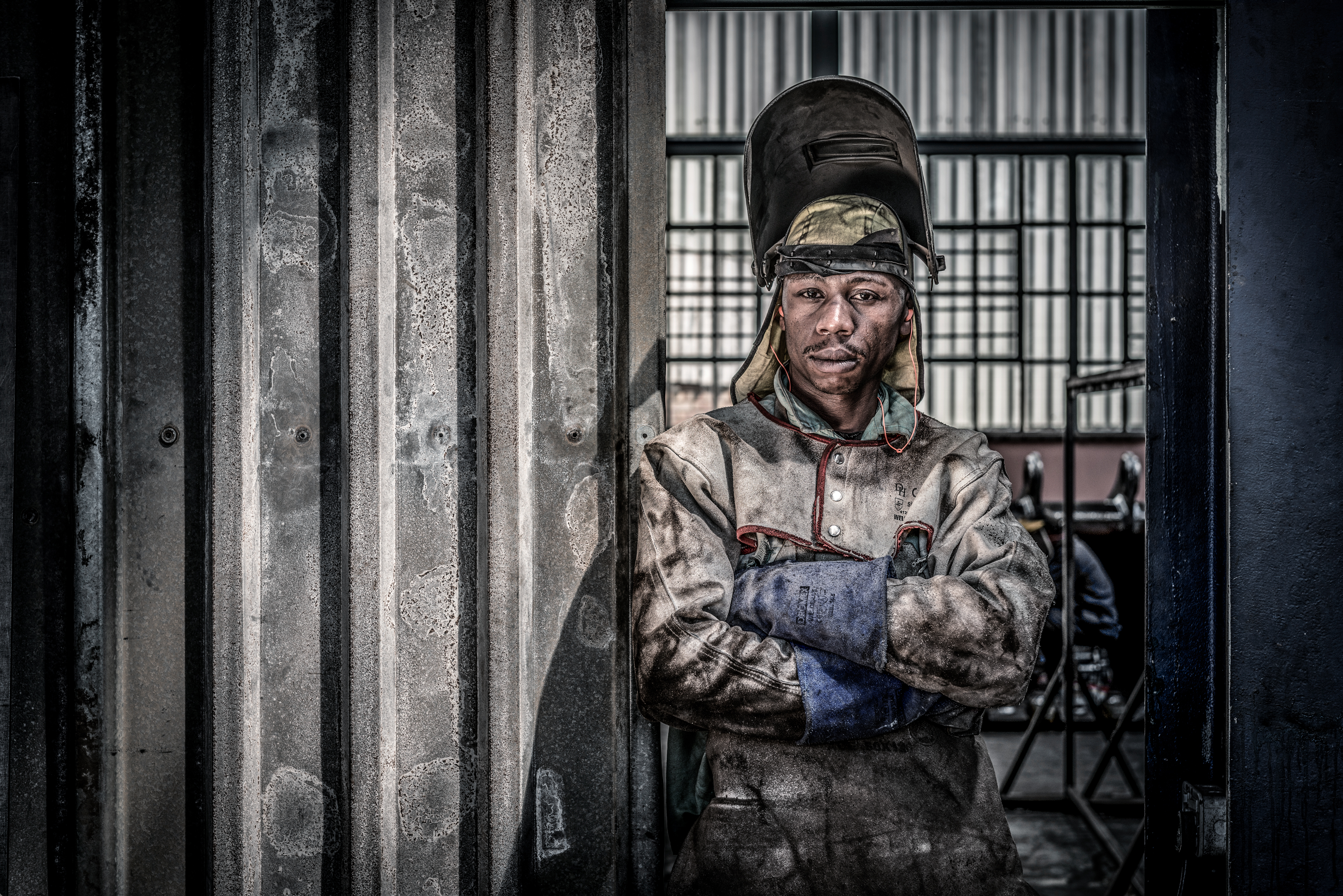 welder, south africa, worker, portrait,